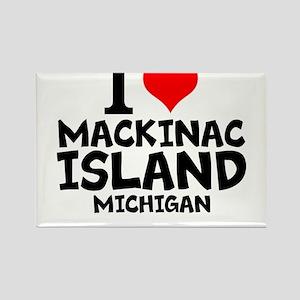 I Love Mackinac Island, Michigan Magnets