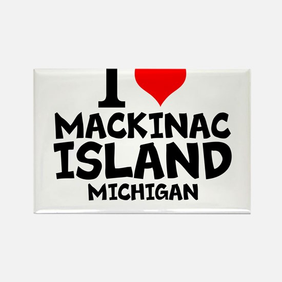 I Love Mackinac Island, Michigan Magnets