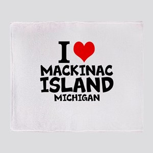 I Love Mackinac Island, Michigan Throw Blanket