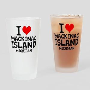 I Love Mackinac Island, Michigan Drinking Glass