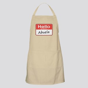 Hello, My Name is Abuela BBQ Apron