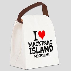 I Love Mackinac Island, Michigan Canvas Lunch Bag