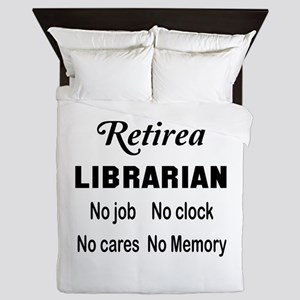 Retired Librarian Queen Duvet
