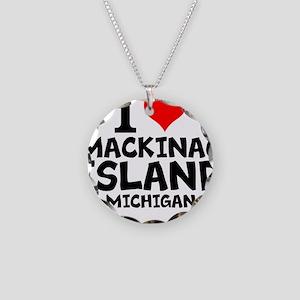 I Love Mackinac Island, Michigan Necklace