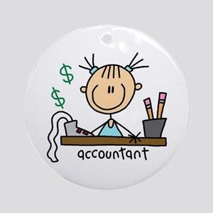 Professions Accountant Ornament (Round)