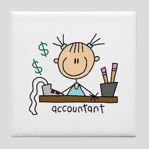 Professions Accountant Tile Coaster