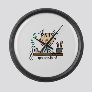Professions Accountant Large Wall Clock