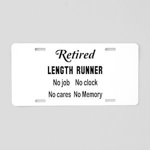 Retired Length runner Aluminum License Plate