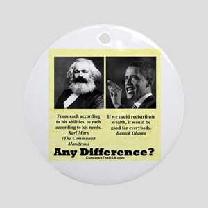 """""""Any Difference?"""" Ornament (Round)"""