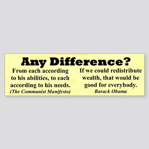 """""""Any Difference?"""" Bumper Sticker"""
