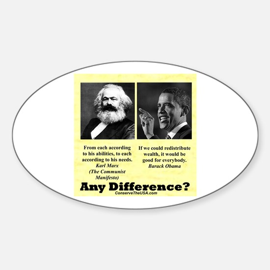 """""""Any Difference?"""" Oval Decal"""