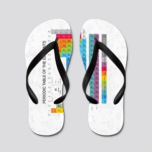 Periodic Table Of Elements With Chemist Flip Flops