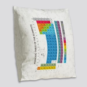 Periodic Table Of Elements Wit Burlap Throw Pillow
