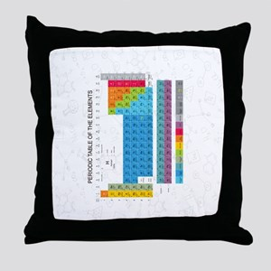 Periodic Table Of Elements With Chemi Throw Pillow
