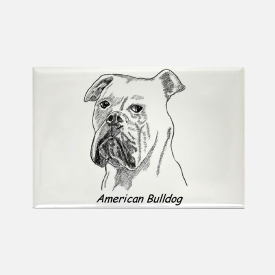 Funny American bulldogs Rectangle Magnet
