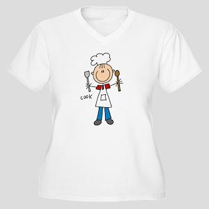 Professions Cook Women's Plus Size V-Neck T-Shirt
