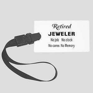 Retired Jeweler Large Luggage Tag