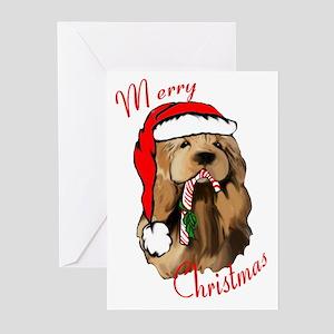 cocker Spaniel Santa Greeting Cards (Pk of 20)