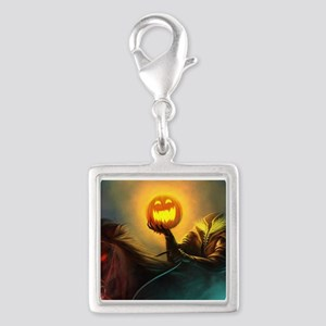 Rider With Halloween Pumpkin Head Charms