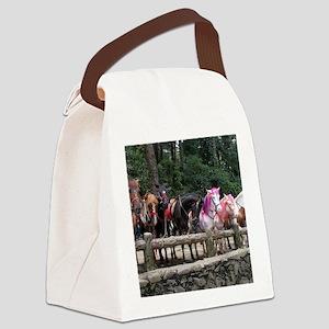 Wright Park Horses, Baguio City - Canvas Lunch Bag