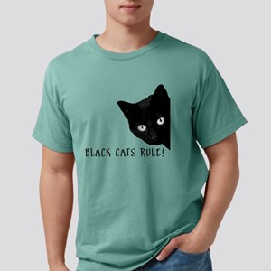 Black cats rule Mens Comfort Colors® Shirt