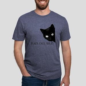 Black cats rule Mens Tri-blend T-Shirt