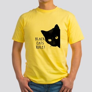 Black cats rule Yellow T-Shirt