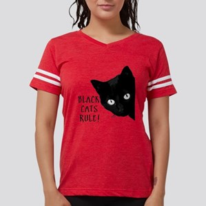 Black cats rule Womens Football Shirt