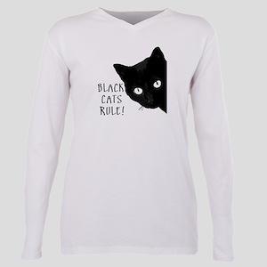 Black cats rule Plus Size Long Sleeve Tee