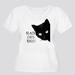 Black cats ru Women's Plus Size Scoop Neck T-Shirt