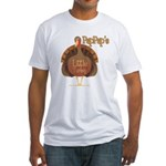 PapPap's Little Turkey Fitted T-Shirt