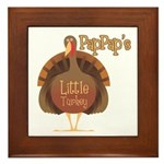 PapPap's Little Turkey Framed Tile
