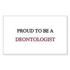 Proud to be a Deontologist Rectangle Sticker