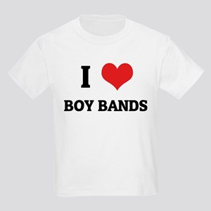 I Love Boy Bands Kids T-Shirt
