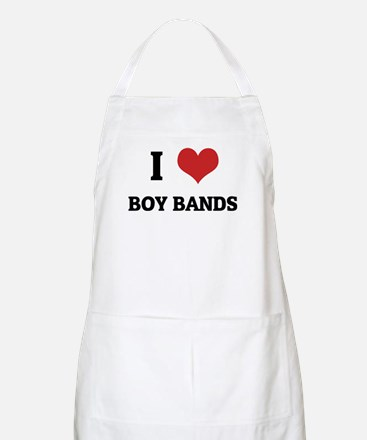 I Love Boy Bands BBQ Apron