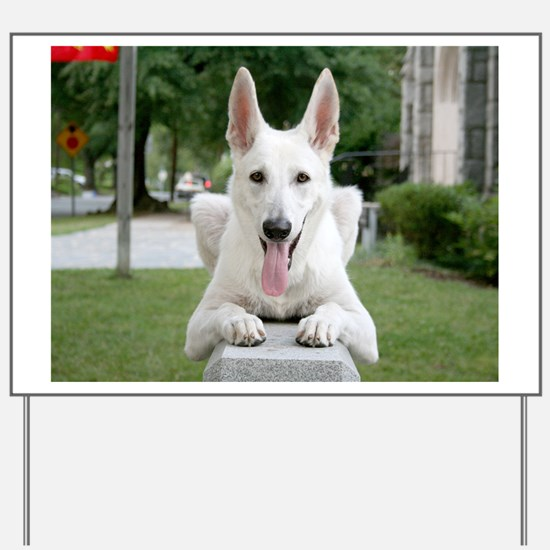 White German Shepard Yard Sign