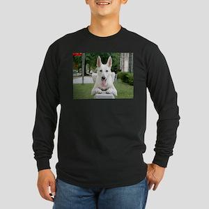 White German Shepard Long Sleeve Dark T-Shirt