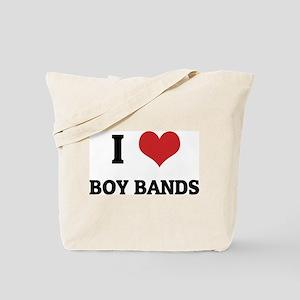 I Love Boy Bands Tote Bag