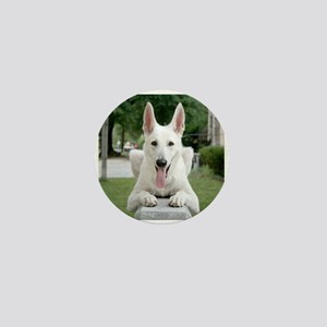White German Shepard Mini Button