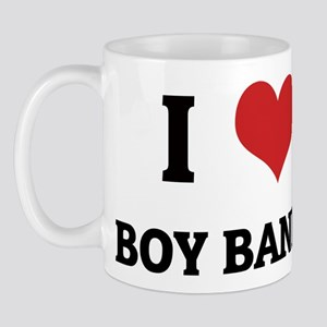 I Love Boy Bands Mug