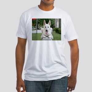 White German Shepard Fitted T-Shirt