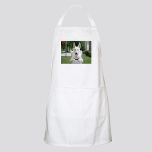 White German Shepard BBQ Apron
