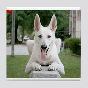 White German Shepard Tile Coaster