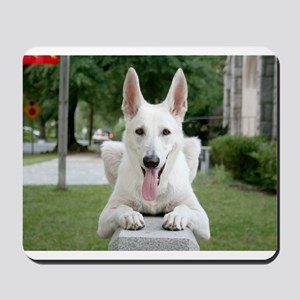 White German Shepard Mousepad