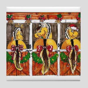 Fjord Horse Ho Ho Ho Tile Coaster