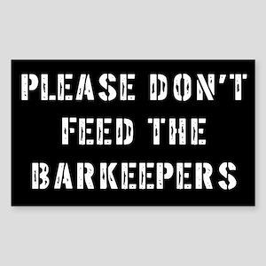 Barkeeper Gift Rectangle Sticker