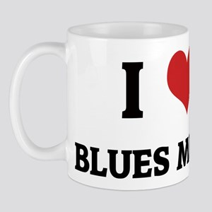 I Love Blues Music Mug