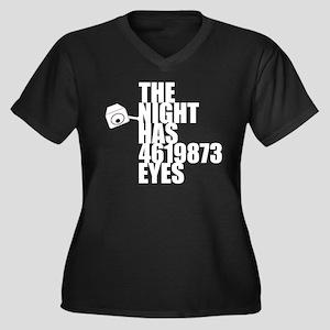 'The Night Has Eyes' Women's Plus Size V-Neck Dark