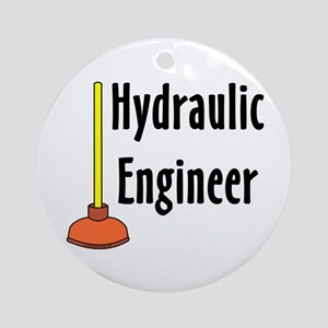Hydraulic Engineer Plunger Ornament (Round)