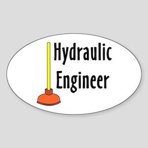 Hydraulic Engineer Plunger Sticker (Oval)